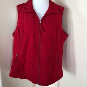 Gorgeous Red Plus Size ColdWater Creek Vest